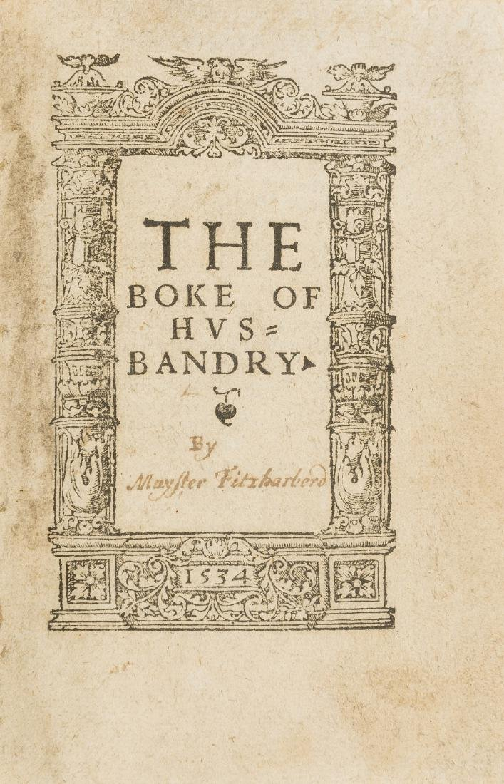 Fitzherbert (John) The Boke of Husbandry, In aedibus
