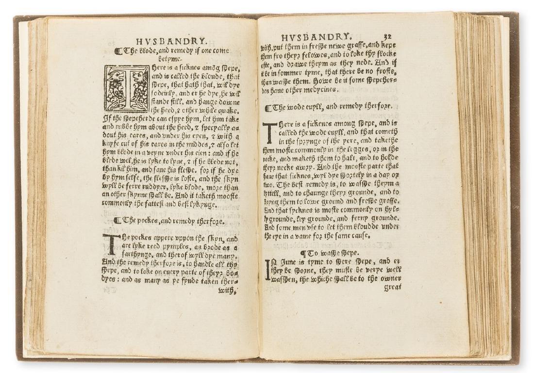 Fitzherbert (John) The Boke of Husbandry, In aedibus - 2
