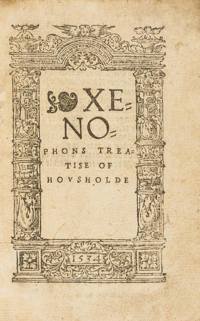 Xenophon. () Xenophons Treatise of Housholde, in