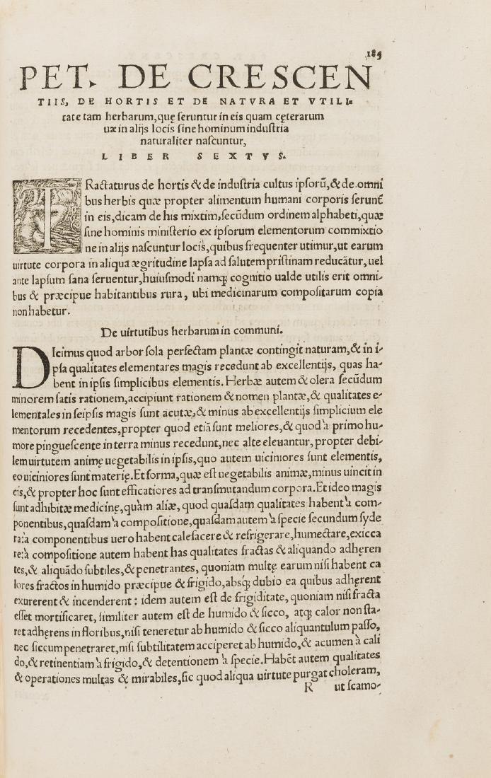 Binding.- Crescentiis (Petrus de) De omnibus - 2