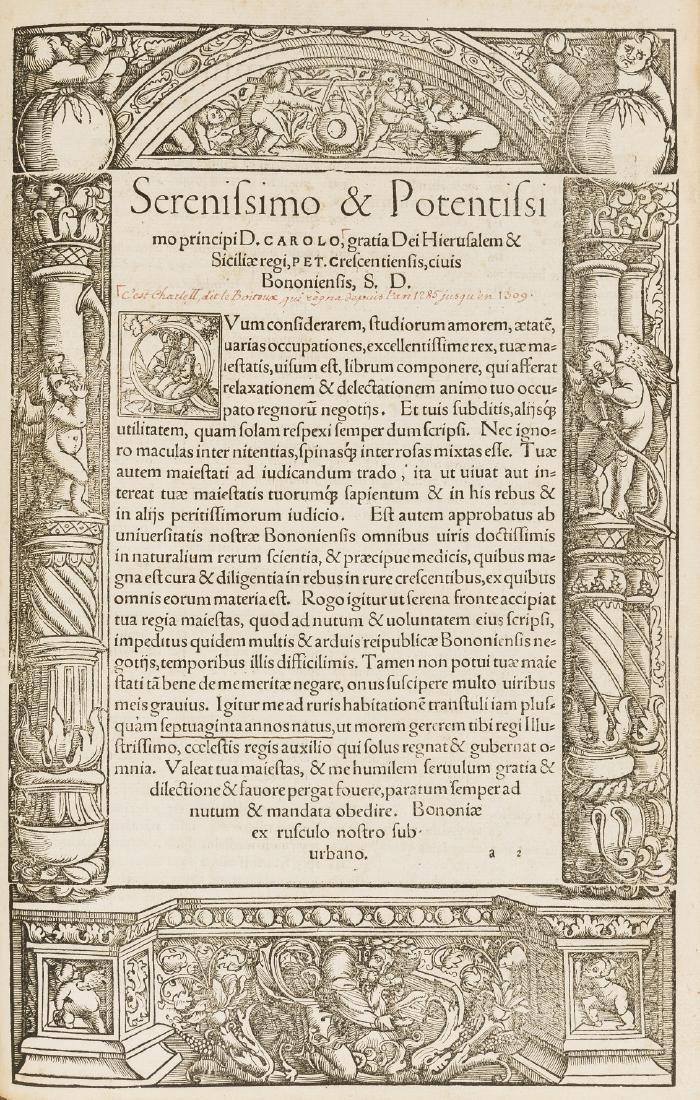 Binding.- Crescentiis (Petrus de) De omnibus - 3