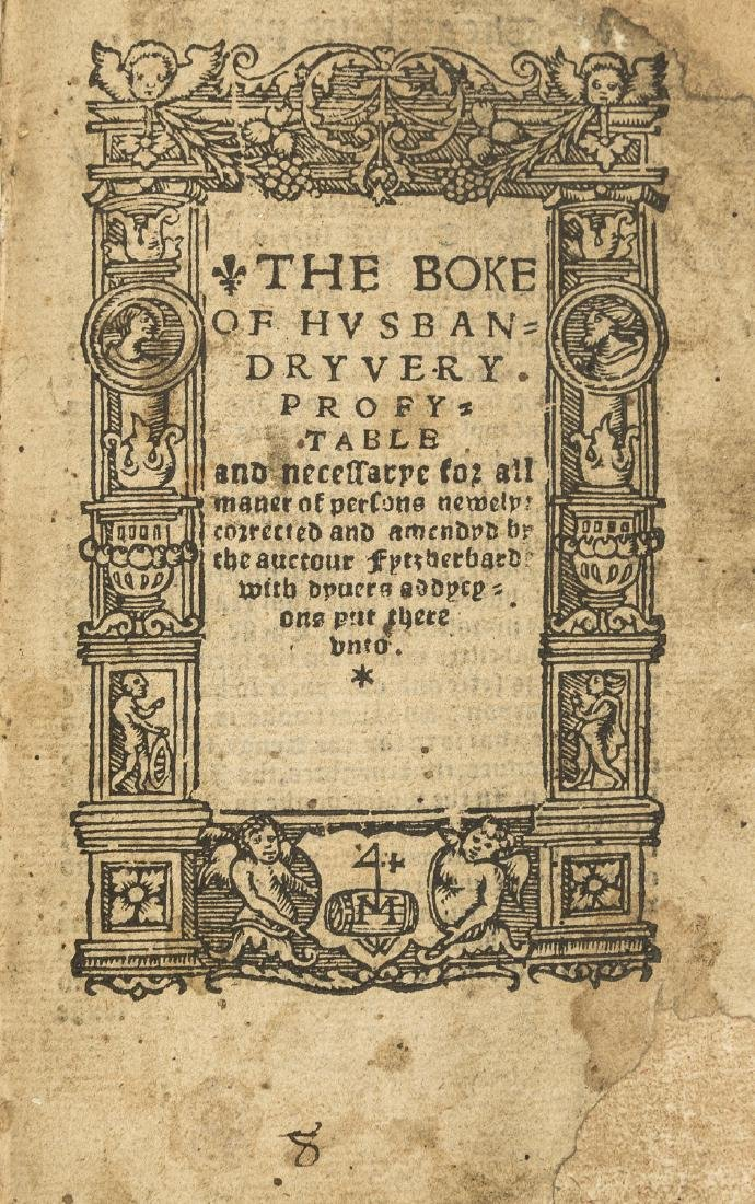 Fitzherbert (John) The Boke of Husbandry..., Imprinted