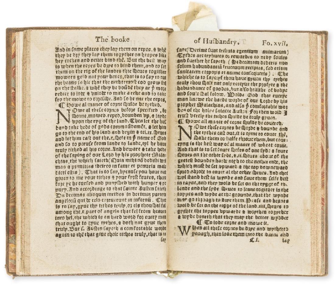 Fitzherbert (John) The Boke of Husbandry..., Imprinted - 2