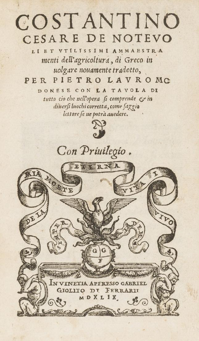 Geoponica, Italian.- , Costantino Cesare De noteuoli et