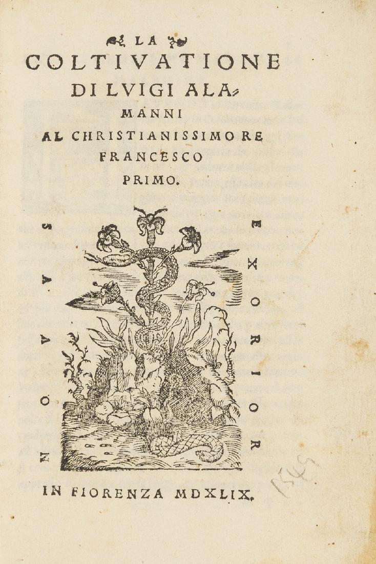 Alamanni (Luigi) La coltivazione... Al Christianissimo