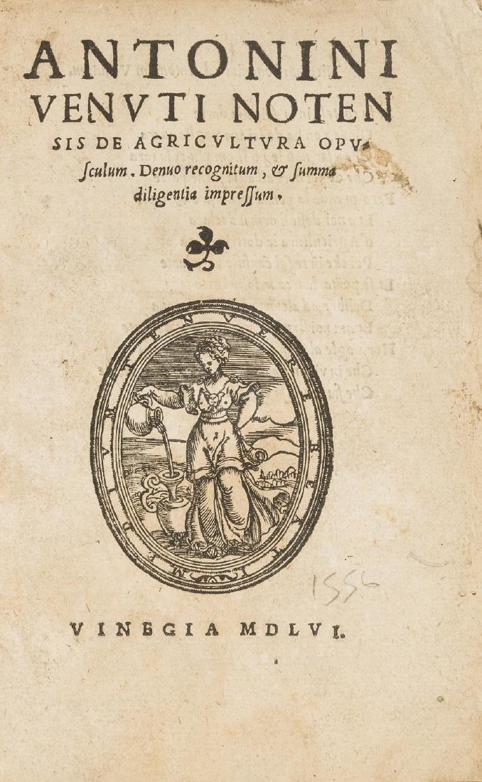 Venuti (Antonio) De Agricultura opusculum. Denuo