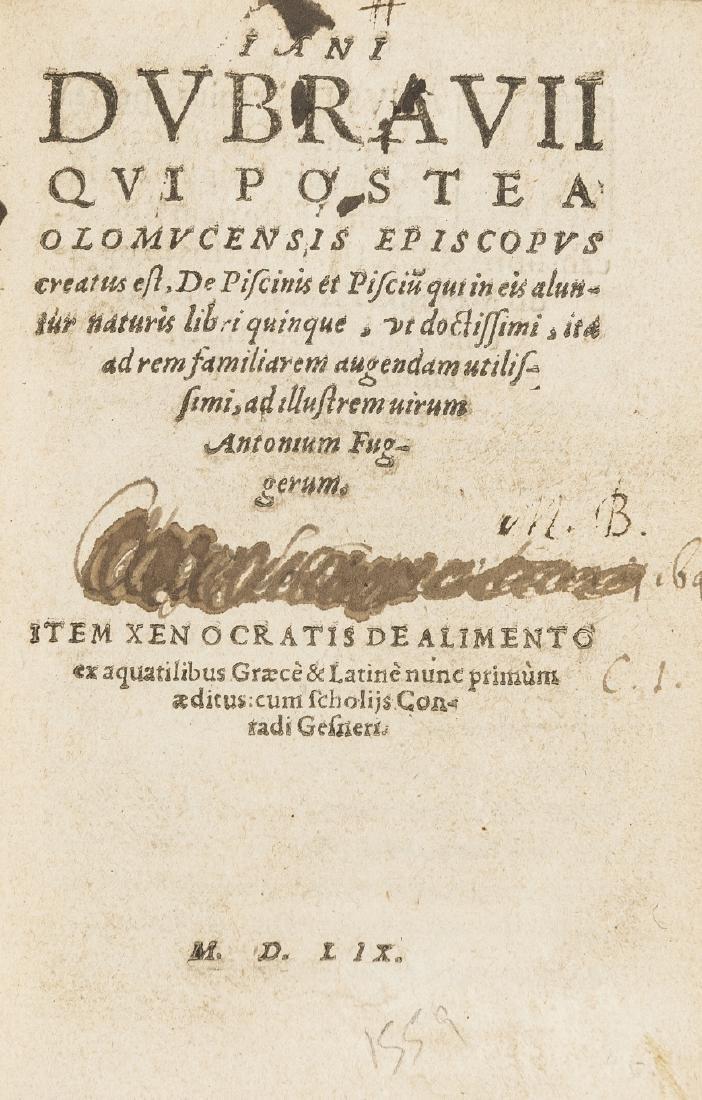 Fish.- Dubravius (Janus) De Piscinis et Piscium, 2