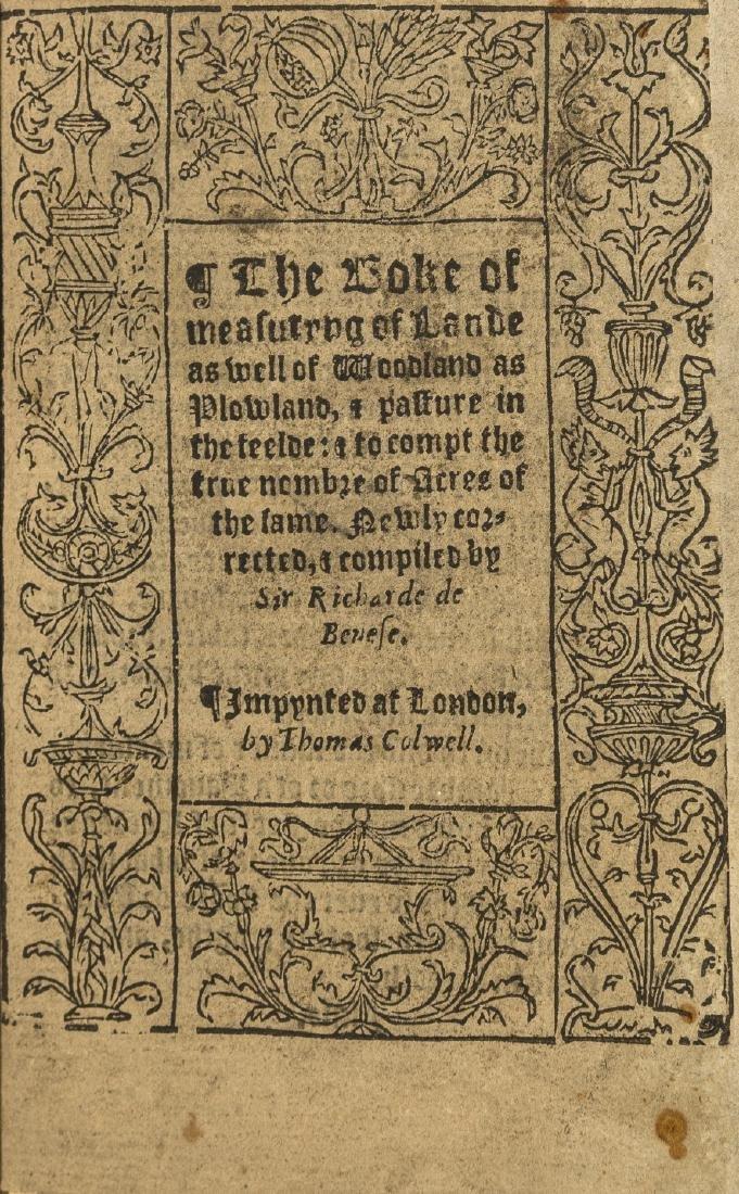 Surveying.- Benese (Richard) The Boke of measuryng of