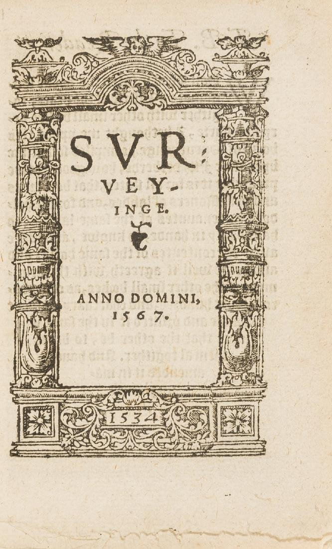 Surveying.- Fitzherbert (John) Surveyinge, [?Printed by
