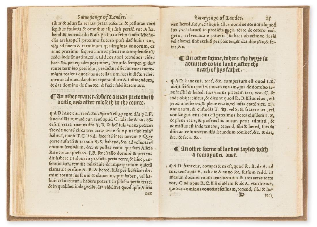 Surveying.- Fitzherbert (John) Surveyinge, [?Printed by - 2