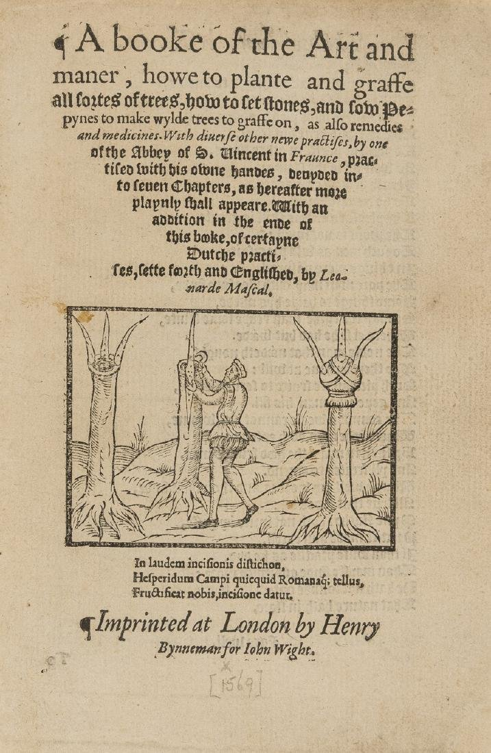 Mascall (Leonard) A booke of the Art and maner, howe to