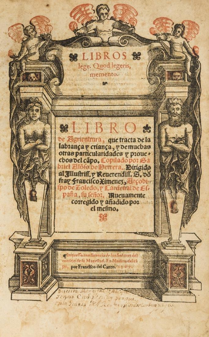 Alonso de Herrera (Gabriel) Libro de Agricultura,