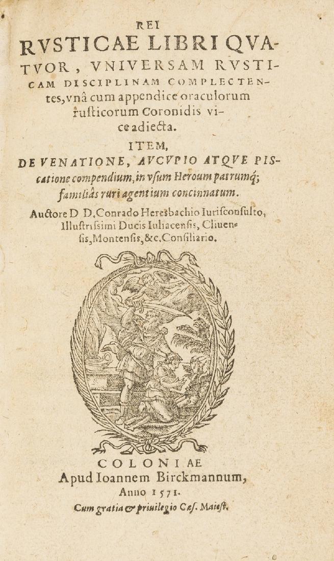 Schwerdt copy.- Heresbach (Conrad) Rei rusticae libri