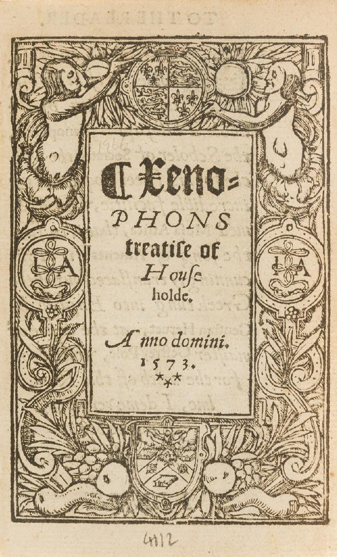 Xenophon. () Xenophons treatise of Householde,