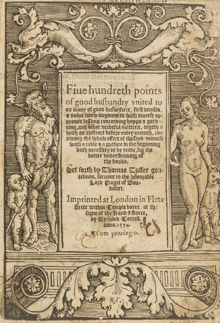 Tusser (Thomas) Five hundreth points of good husbandry
