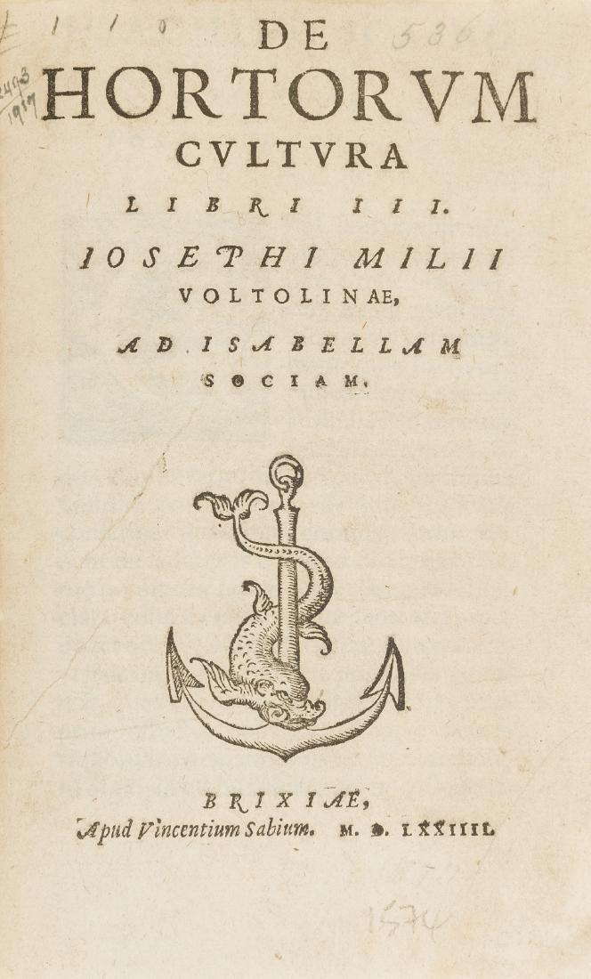 Voltolina (Giuseppe Milo) De hortorum cultura libri