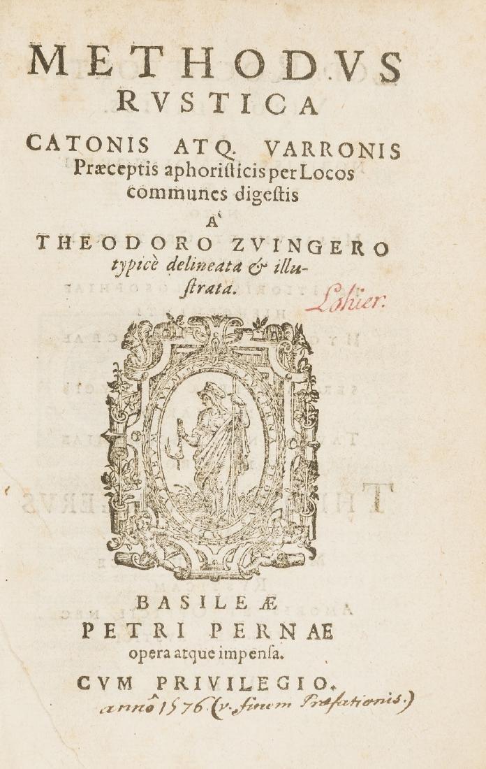 Cato (Marcus Porcius) Methodus rustica Catonis atq;