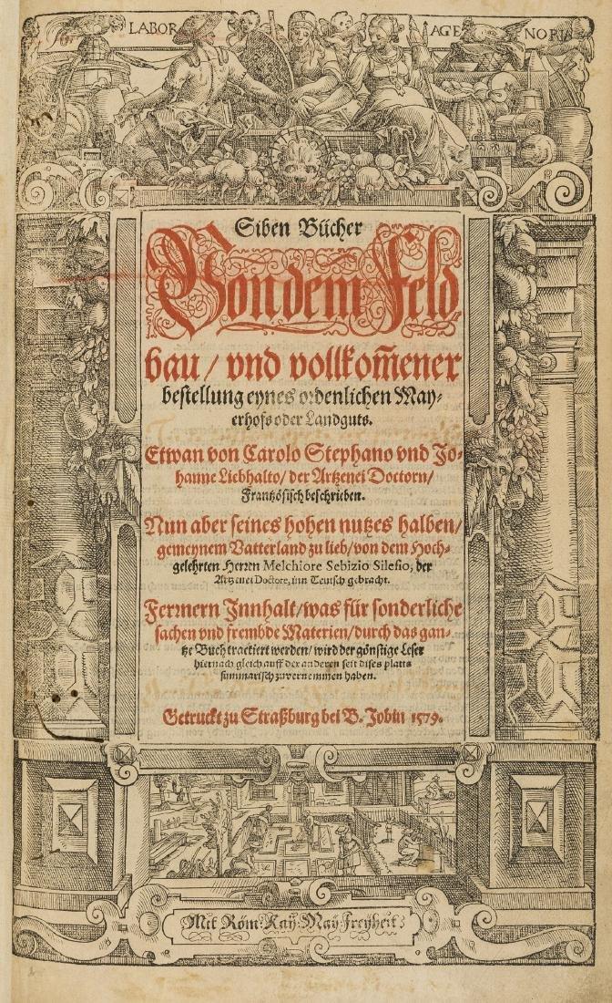 Estienne (Charles) Siben Buecher von dem Feldbau, first