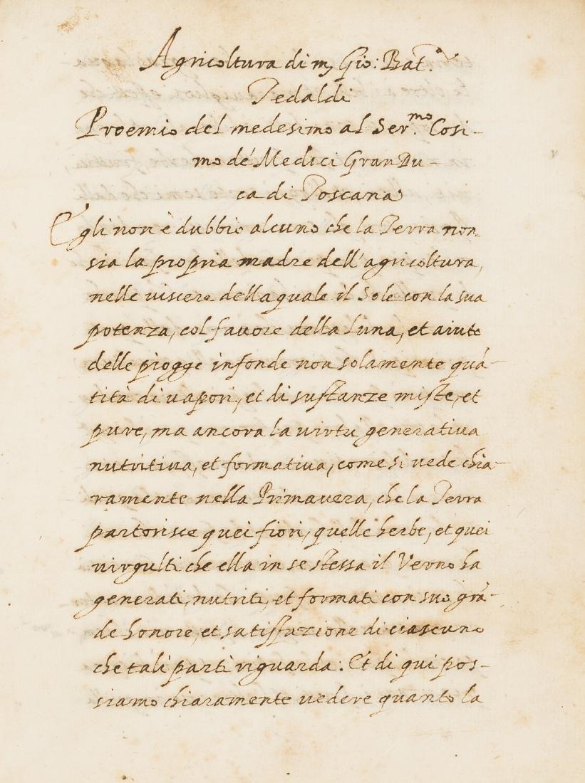 Tedaldi (Giovanni Battista) Discorso sull' Agricoltura,