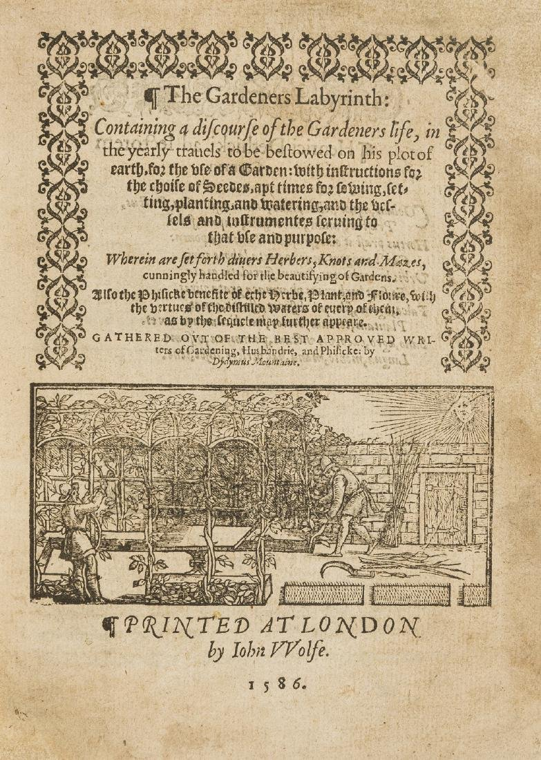 Hill (Thomas) The Gardeners Labyrinth, second edition,