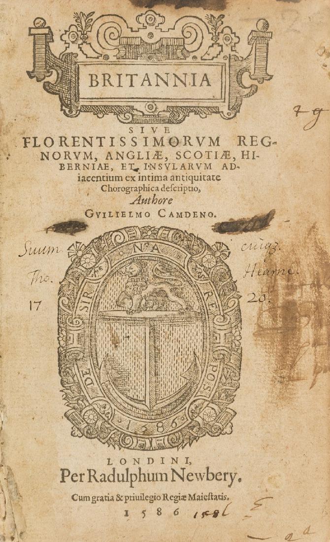 Camden (William) Britannia, sive Florentissimorum