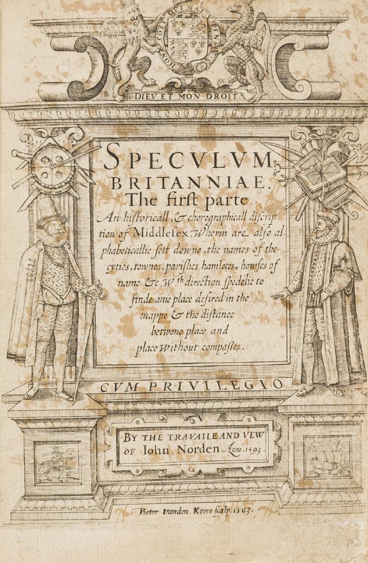 London.- Norden (John) Speculum Britanniae. The first