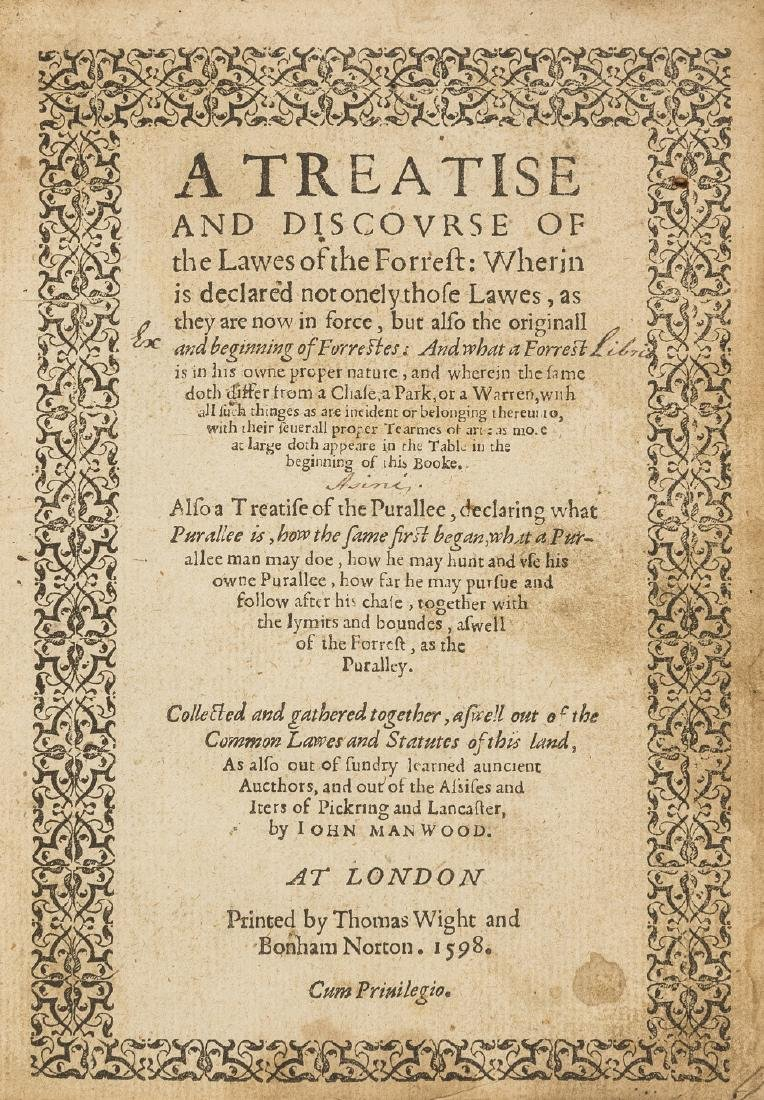 Forestry.- Manwood (John) A Treatise and Discourse of