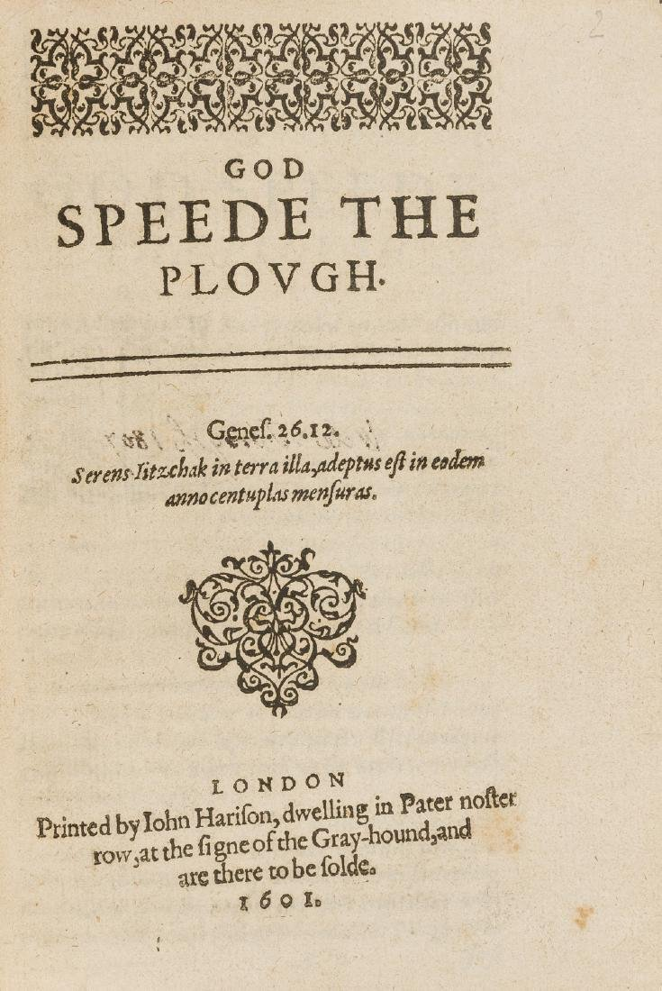 God Speede the Plough, first edition, Printed by John