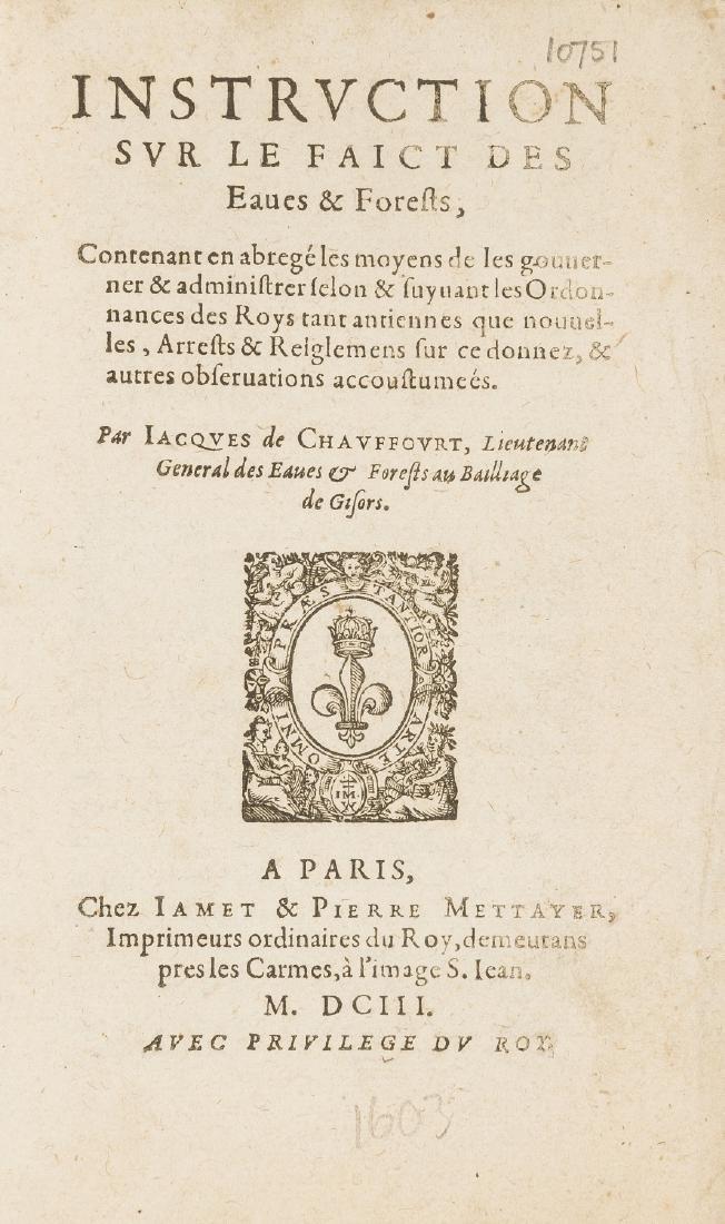 Schwerdt copy.- Chauffort (Jacques de) Instruction sur
