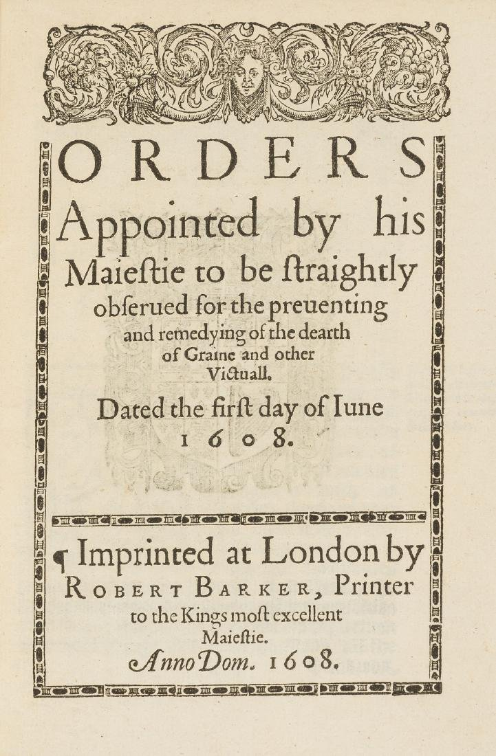 Rationing.- Orders Appointed by his Maiestie . . . for