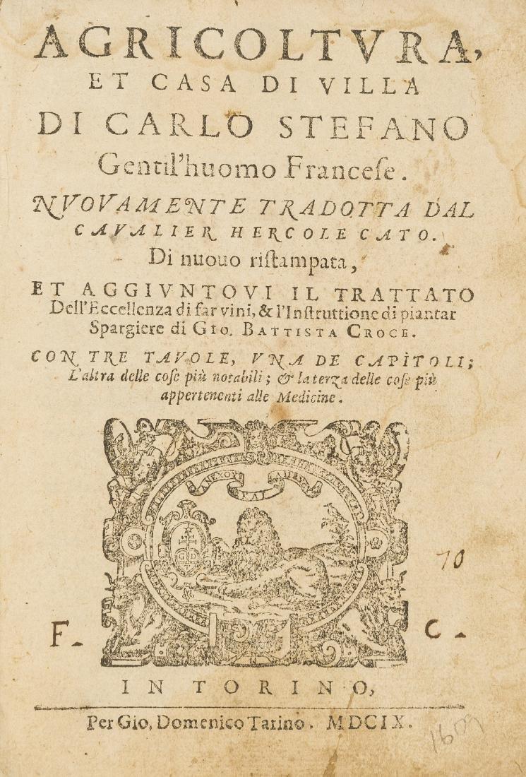 Estienne (Charles) Agricoltura, et Casa di Villa,