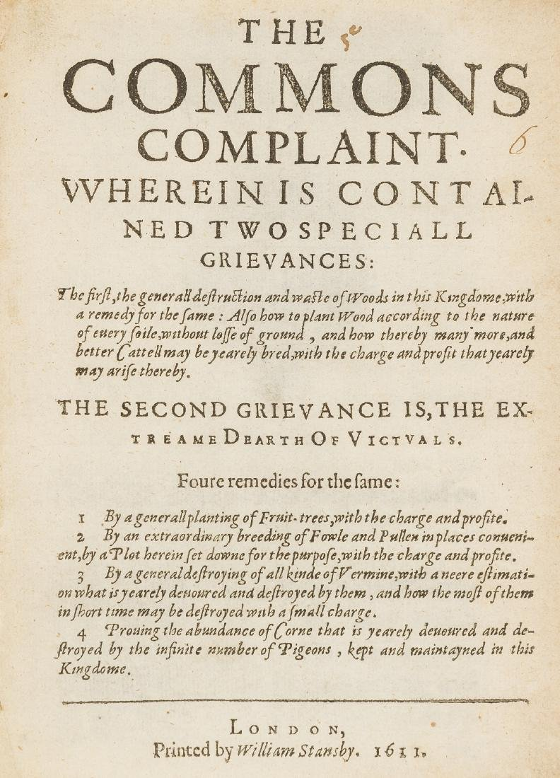 [Standish (Arthur)] The Commons Complaint, Wherein is