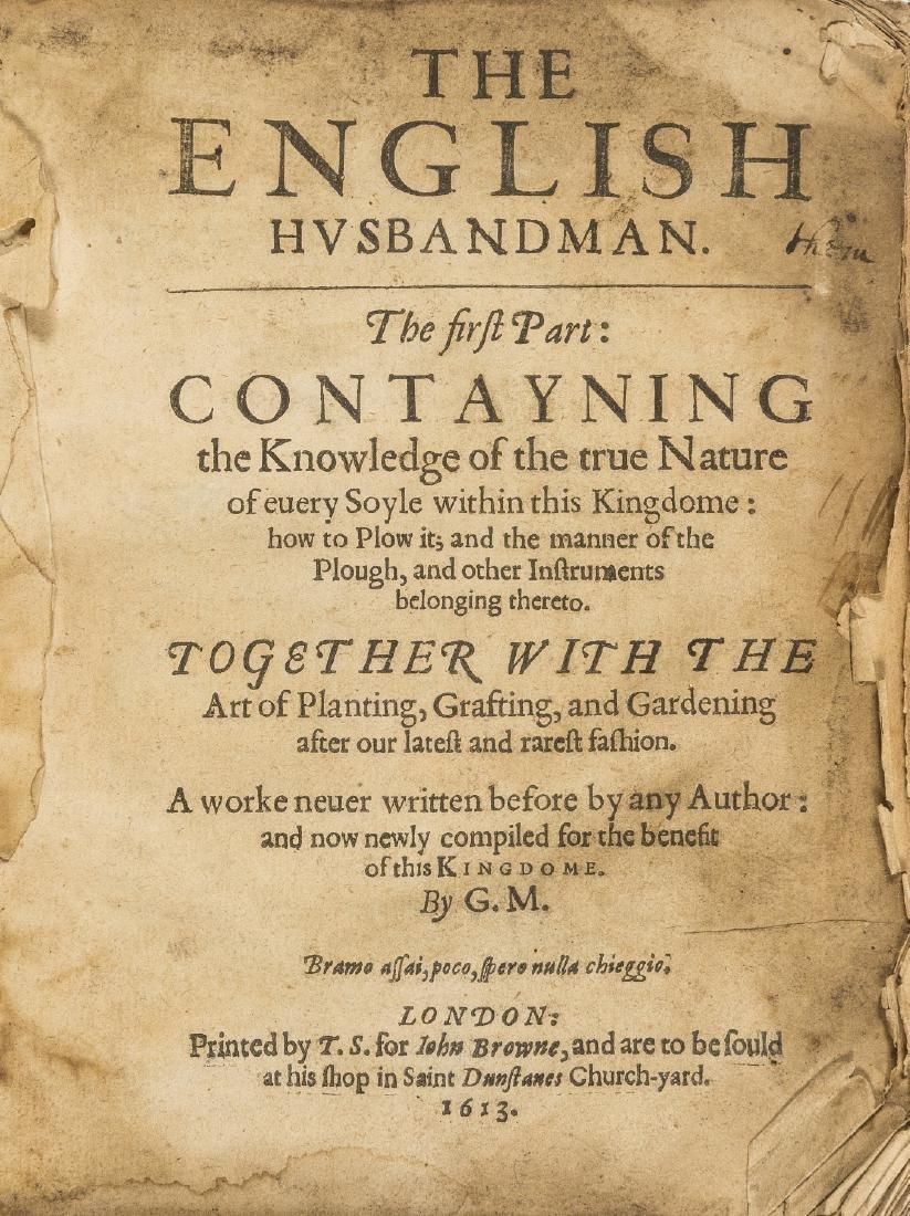 Markham (Gervase) The English Husbandman. The First