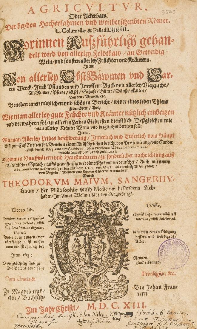 Maius (Theodor) Agricultur, Magdeburg, Johann Francke,