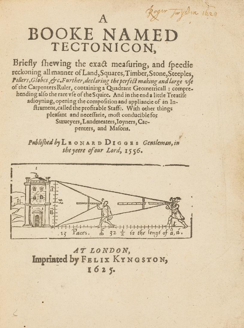 Surveying.- Digges (Leonard) A Booke names Tectonicon,