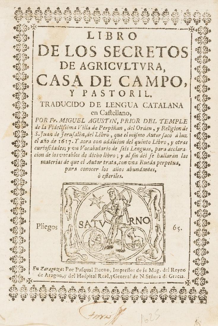 Agustin (Miguel) Libro de los Secretos de Agricultura,
