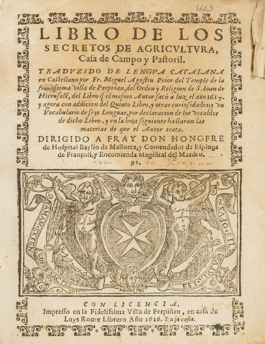 Spanish printing in Perpignan.- Augustin (Miguel) Libro