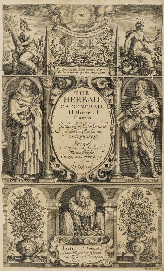 Herbal.- Gerard (John) The Herball or Generall Historie