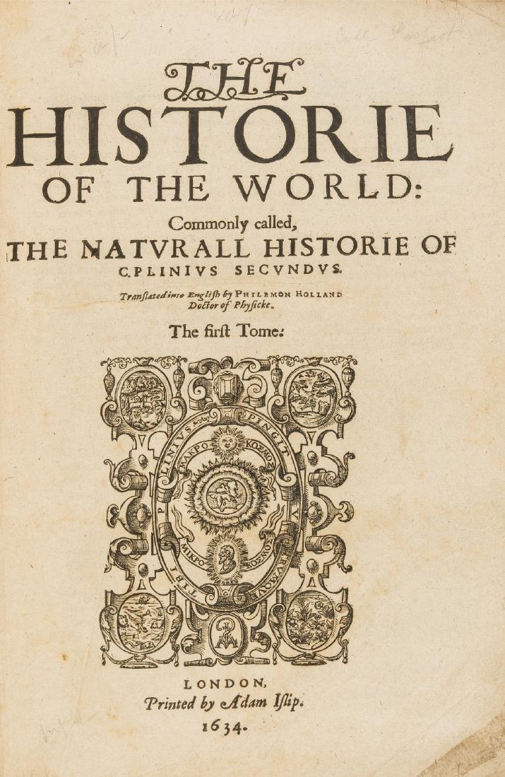 Plinius Secundus (Gaius) The Historie of the World: