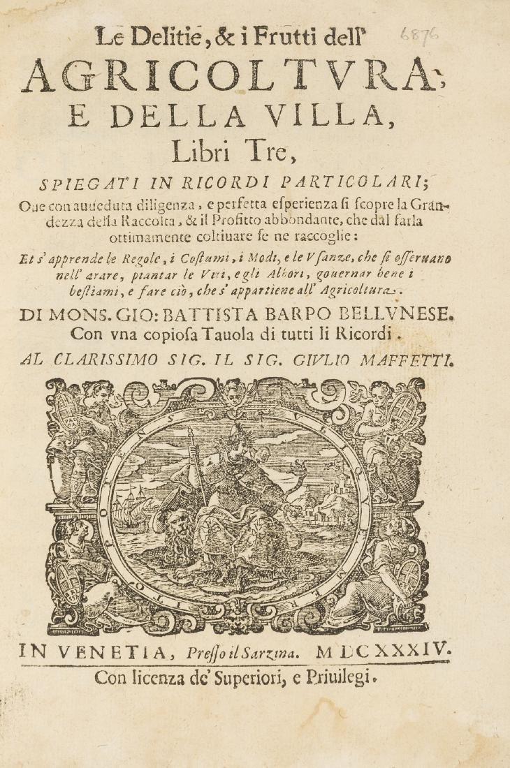 Barpo (Giovanni Battista) Le Delitie, & i Frutti dell'