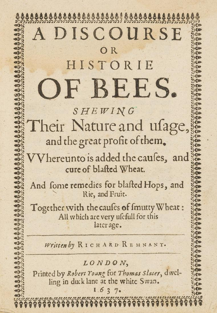 Bees.- Remnant (Richard) A Discourse or Historie of