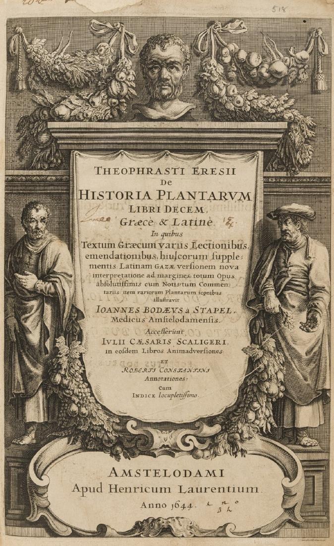 Herbal.- Theophrastus. De Historia plantarum libri