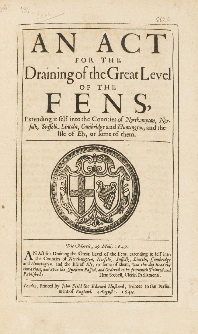 Fens Drainage.-  Act (An) for the Draining of the Great