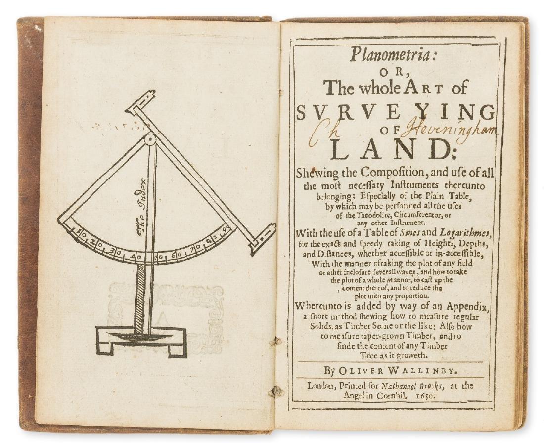 Surveying.- [Leybourn (William)] Planometria: or the