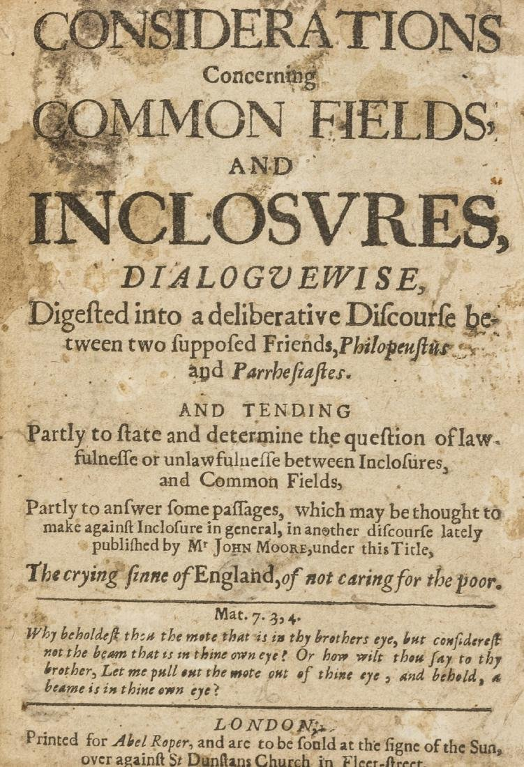 Enclosures.- [Lee (Joseph)] Considerations concerning