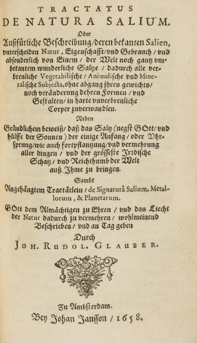 Glauber (Johann Rudolf) Pharmacopaeae Spagyricae,