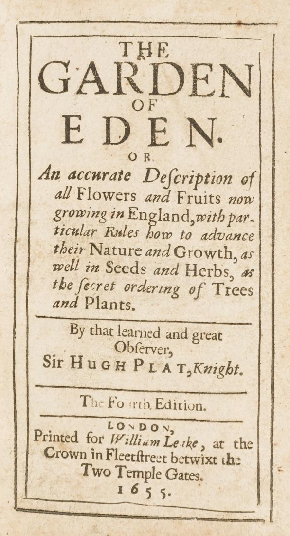 Plat (Sir Hugh) The Garden of Eden: or, An accurate