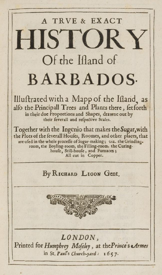 West Indies.- Ligon (Richard) A True & Exact History of