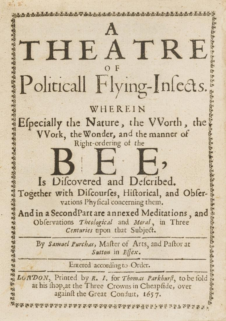 Bees.- Purchas (Samuel) A Theatre of Politicall