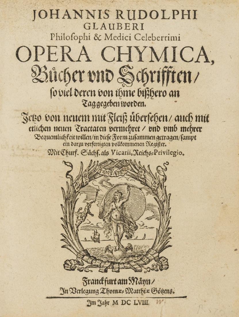 Glauber (Johann Rudolf) Opera Chymica, 2 vol. in 1,